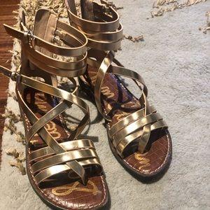 Gold Sam Edelman Strappy Sandals